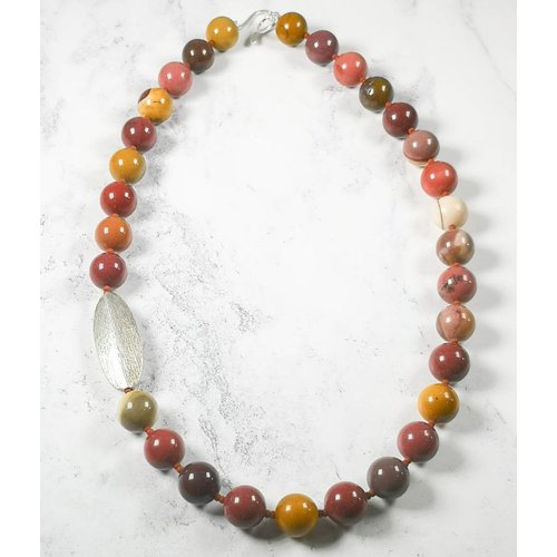 Melissa James Mookaite and  silver pod Necklace