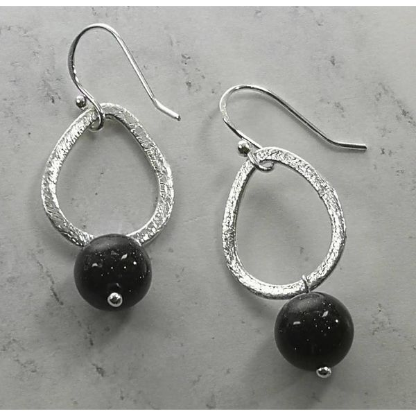 Copy of Mookaite and silver hook Earrings