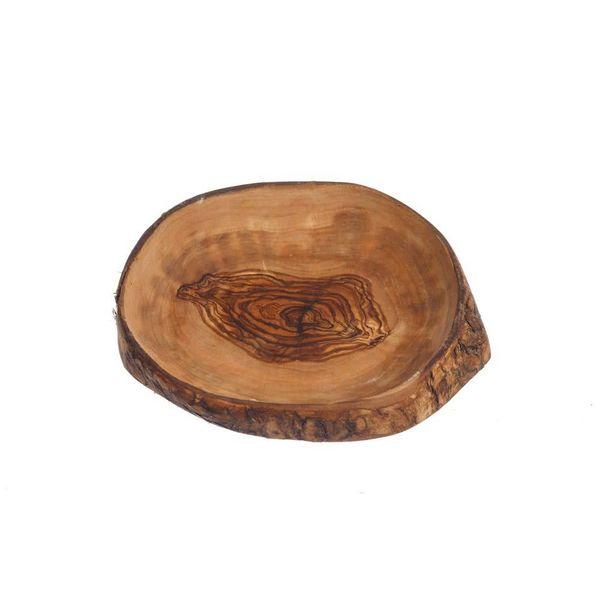Olive Wood Rustic Bark Serving Bowl