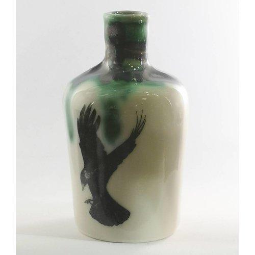Jillian Riley Designs Crow in flight apocethary bottle