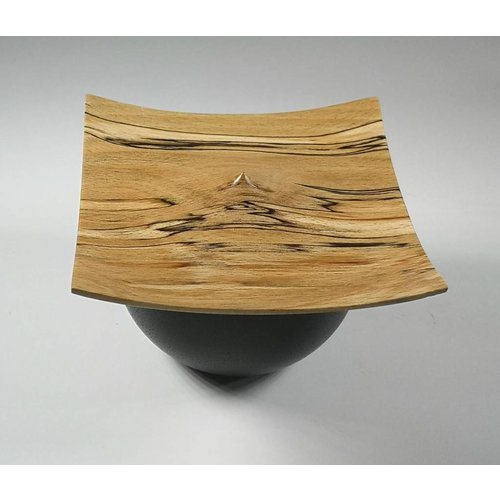 Kevin Hutson Spalted Beach and black bowl box