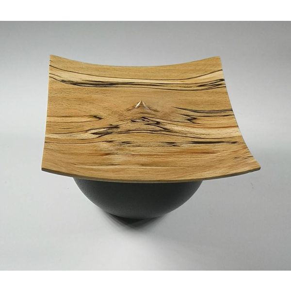 Spalted Beach and black bowl box