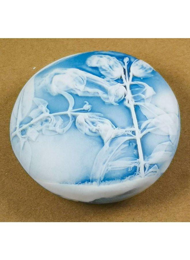 Handgemachtes Porzellan Strukturierter Prüfstein 022