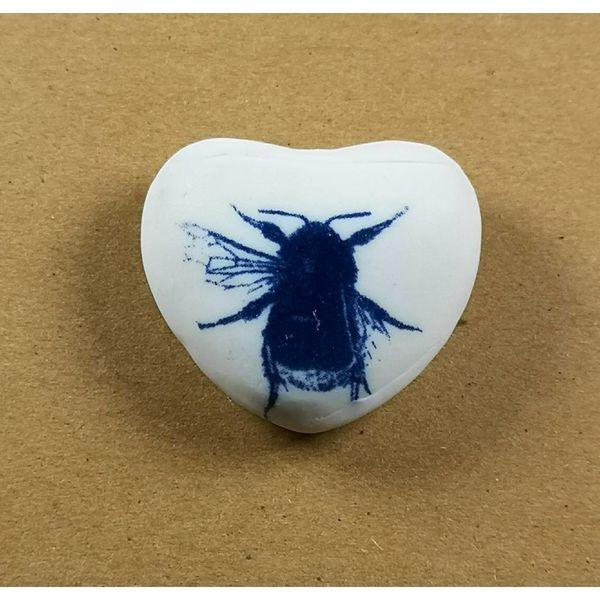 Heart Hand Made Porcelain  touchstone 024