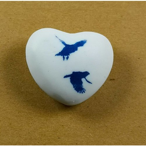 Clare Mahoney Heart Hand Made Porcelain  touchstone 026