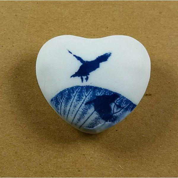 Heart Hand Made Porcelain  touchstone 026