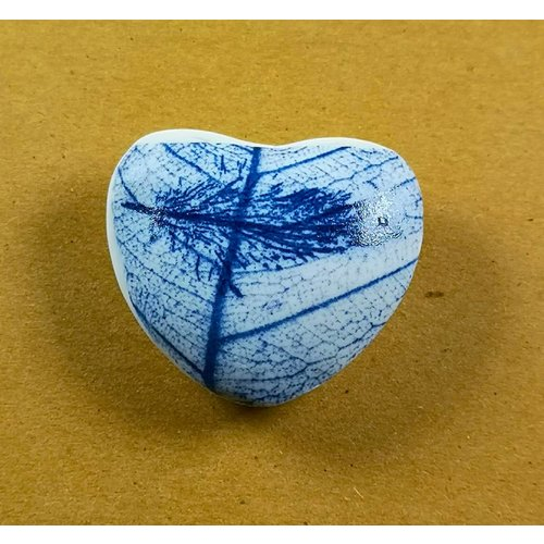 Clare Mahoney Heart Hand Made Porcelain  touchstone 028