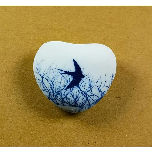 Clare Mahoney Heart Hand Made Porcelain  touchstone 029