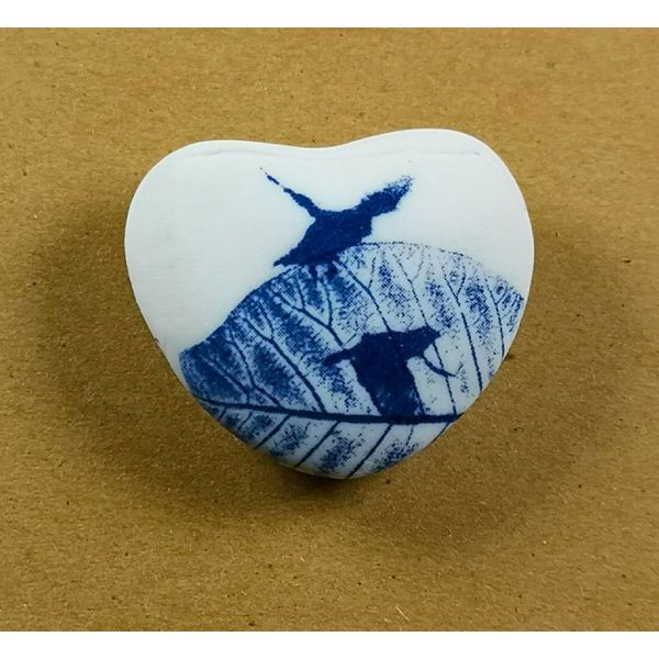 Heart Hand Made Porcelain  touchstone 029