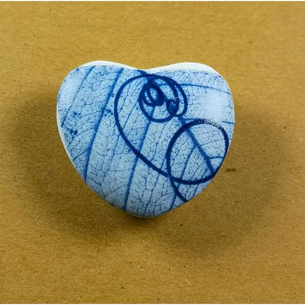 Heart Hand Made Porcelain  touchstone 030