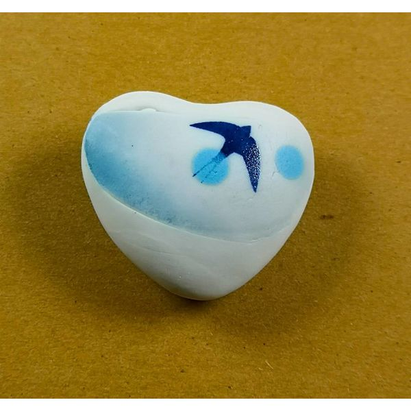 Heart Hand Made Porcelain  touchstone 031