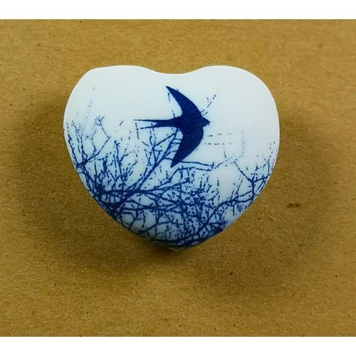 Clare Mahoney Heart Hand Made Porcelain  touchstone 032