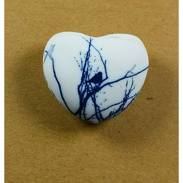 Heart Hand Made Porcelain  touchstone 032