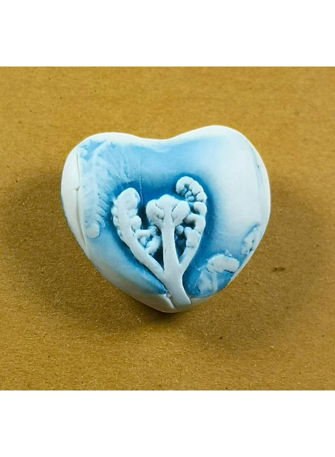 Herz Hand Made Porzellan strukturierten Prüfstein 035