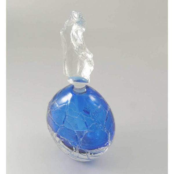 Runde Gletscherduftflasche blau