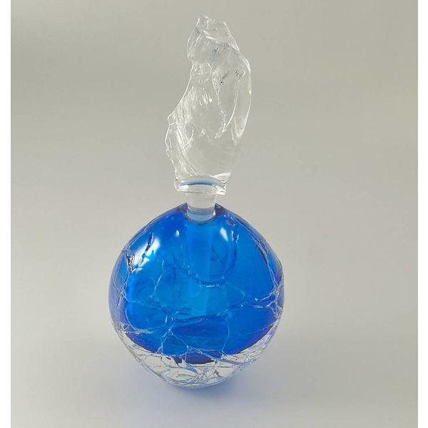 Round Glacier Scent bottle blue
