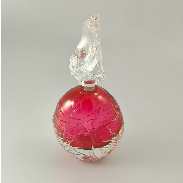Round Glacier Scent bottle pink