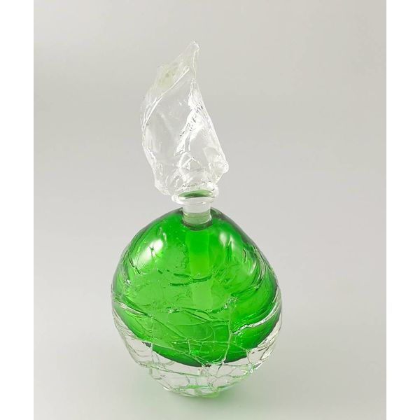 Frasco de aroma de glaciar redondo verde