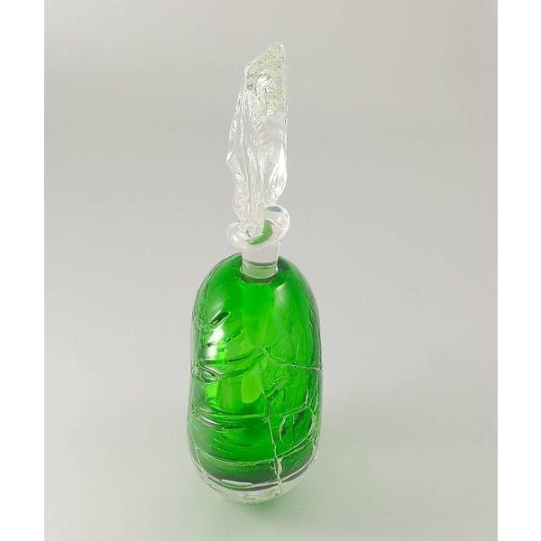Round Glacier Scent bottle green