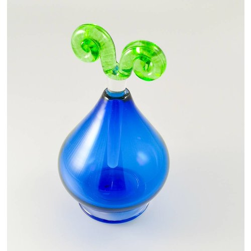 Bob Crooks Fun shape scent bottle blue