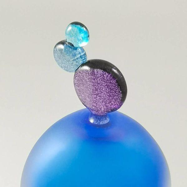 Fun oval scent bottle blue