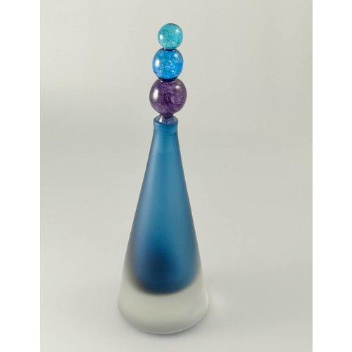 Bob Crooks Divertido cónico con aroma a botella azul.