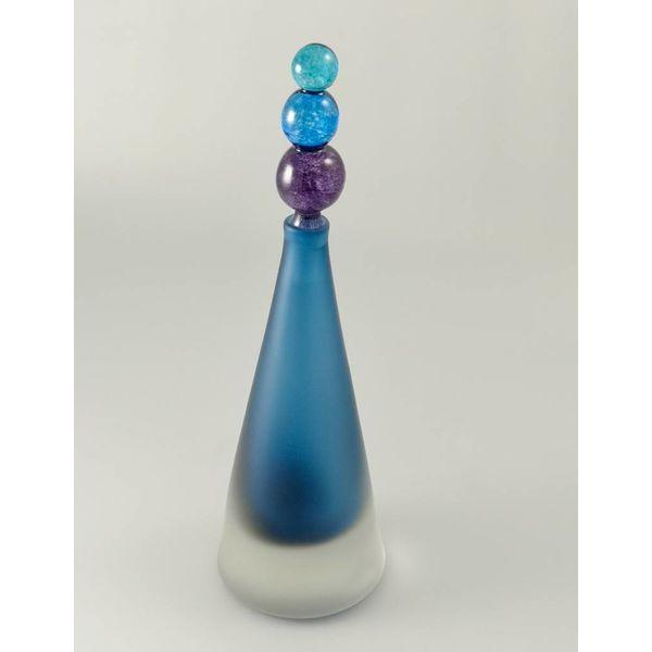 Divertido cónico con aroma a botella azul.