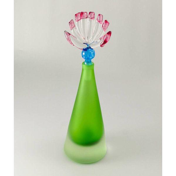 Diversión cónica aromática verde botella.