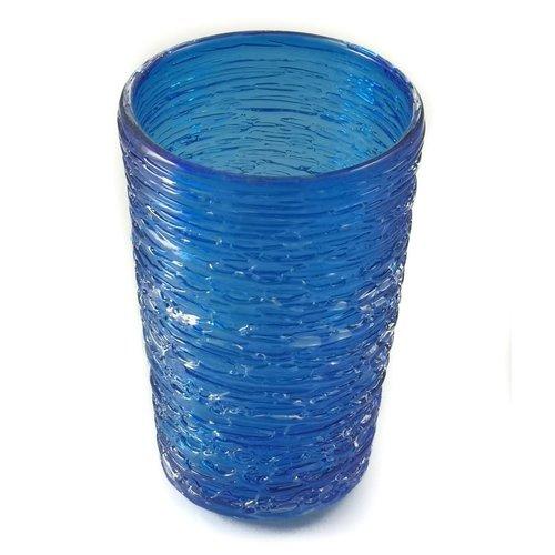 Bob Crooks Vaso Tornado Azul Cobalto