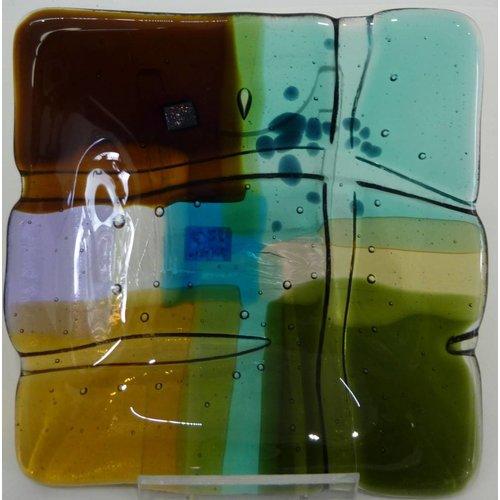 Kim Bramley Landscape 1 shallow glass dish