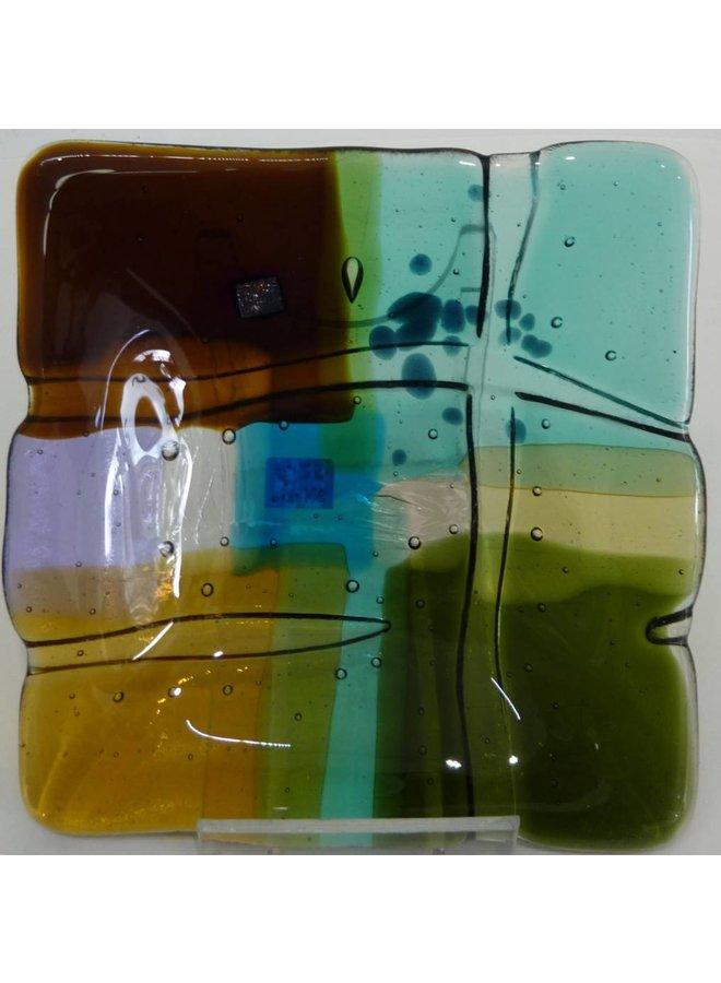 Landscape 1 shallow glass dish