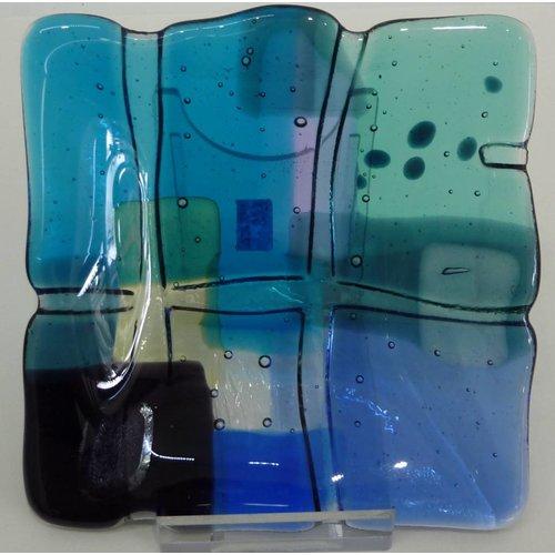 Kim Bramley Landscape 2 shallow glass dish