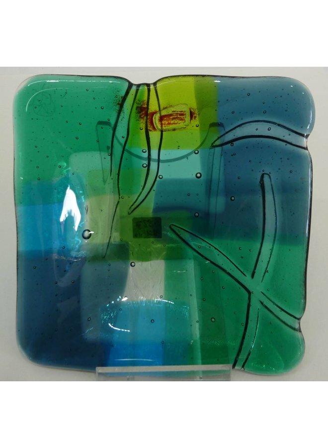 Landscape 3 shallow glass dish