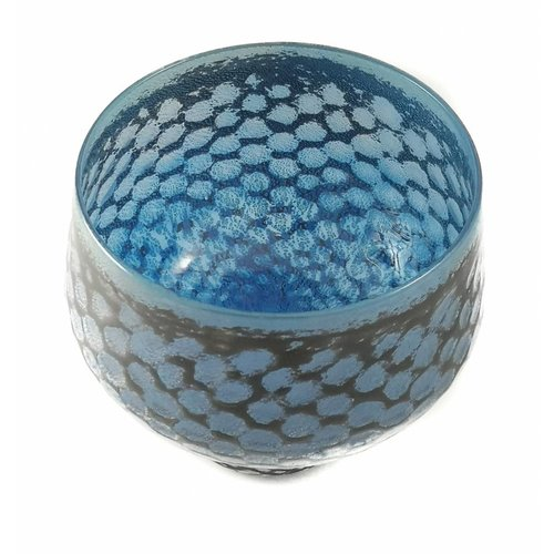 Allister Malcolm Glass Blue mermaid  glass bowl