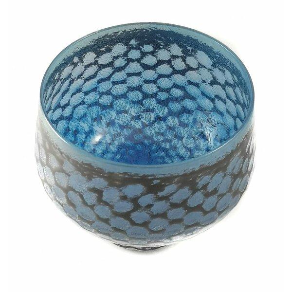 Blue mermaid  glass bowl
