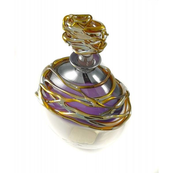 Amethyst and gold trail perfume bottle
