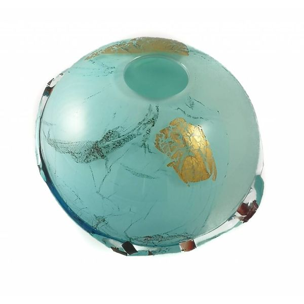 Ocean surface glass and metals globe