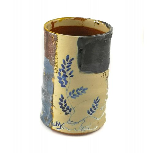 Mary Johnson Garden Allotment Slipware  Vase 1