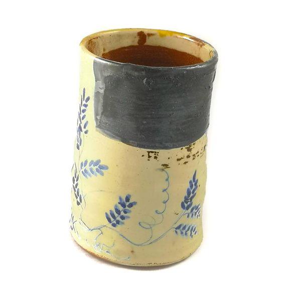 Garden Allotment Slipware  Vase 1
