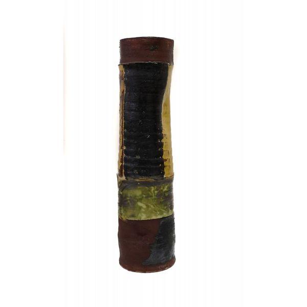 Garden Allotment Slipware Tall Vase 10