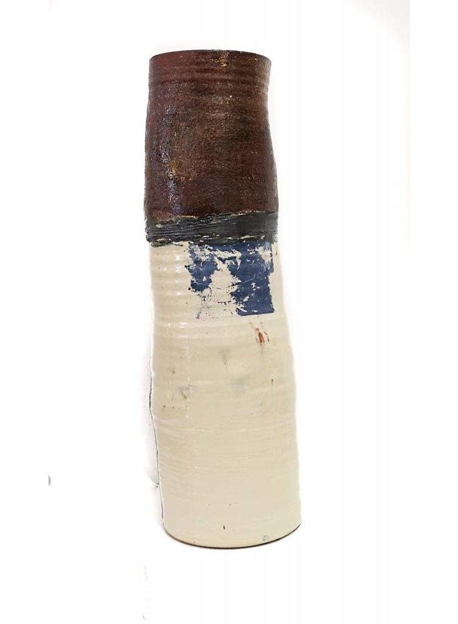 Garden Allotment Slipware Tall Vase 11