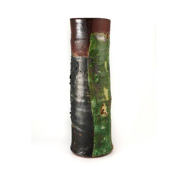Garden Allotment Slipware Tall Vase 9