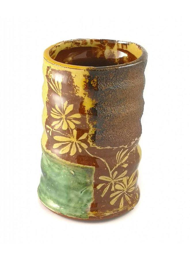 Garden Allotment Slipware Vase 2