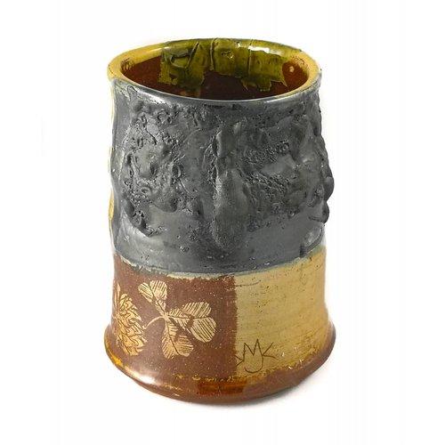 Mary Johnson Garden Allotment Slipware Vase 5