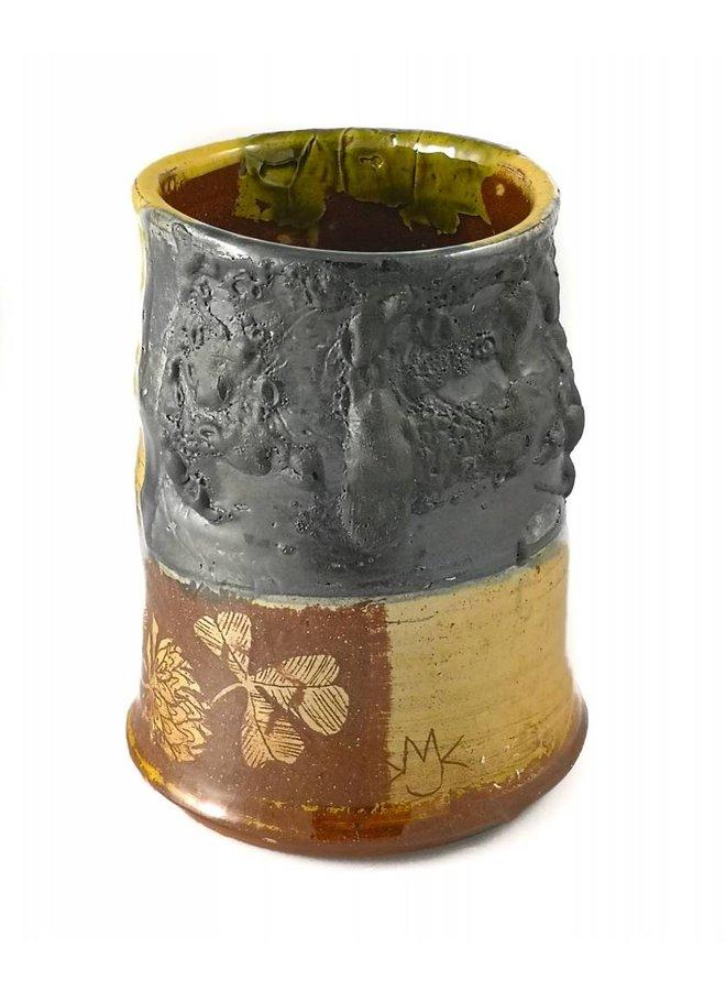 Garden Allotment Slipware Vase 5