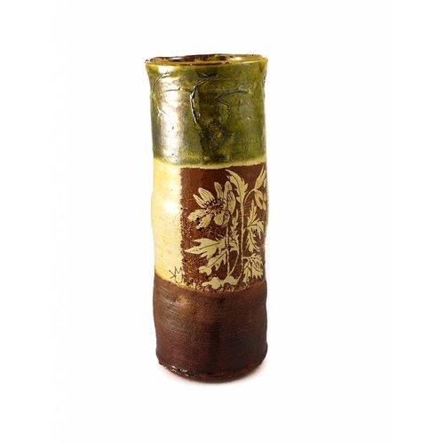 Mary Johnson Garden Allotment Slipware Vase 6