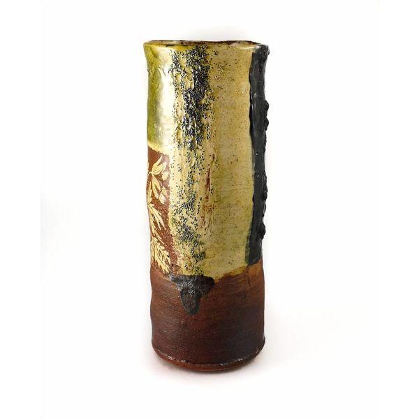 Garden Allotment Slipware Vase 6