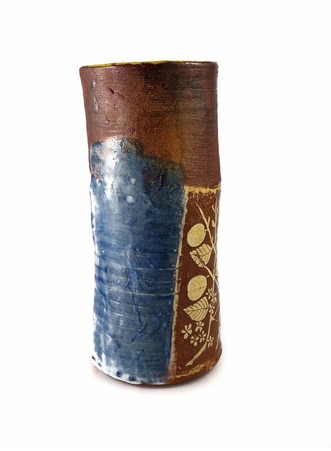 Garden Allotment Slipware Vase 7
