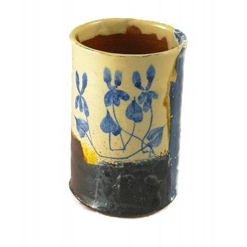 Mary Johnson Garden Allotment Slipware Vase 3