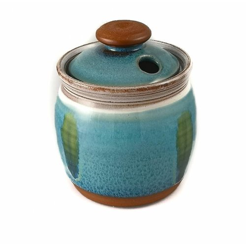 R B Ceramics Garlic Pot ceramic with lid